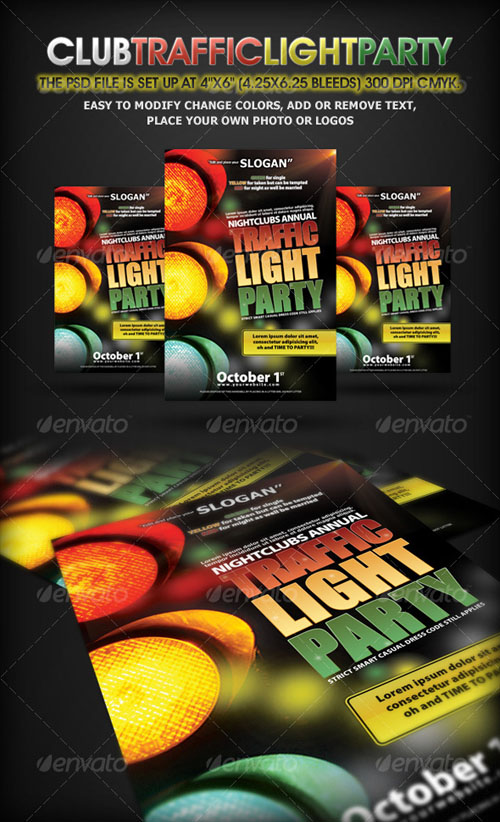 GraphicRiver - Traffic Light Party Nightclub Flyer