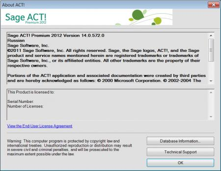 Sage ACT! Premium 2012 [ v.14.0.572.0, x86, 2011, MULTILANG + RUS ]