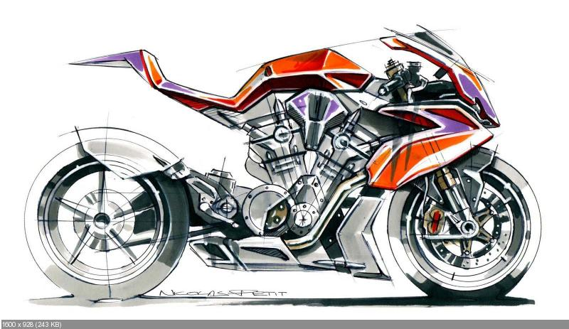 Николя Пети - концепт мотоцикла Honda 1200 VTR