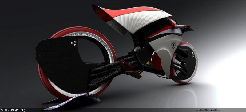 Концетп электроцикла Tesla E-Max
