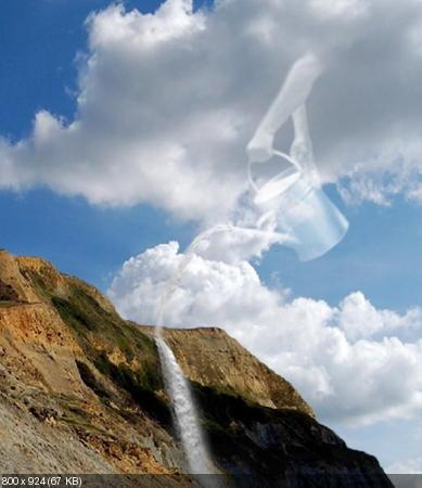 Работы оригинальных художников - необычные облака