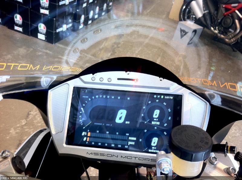 Дорожная версия электроцикла Mission R
